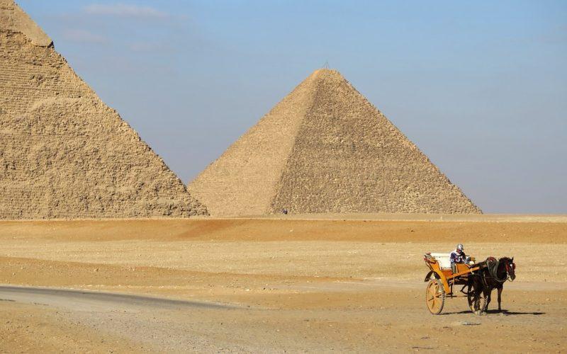 Písečná bouře v Egyptě
